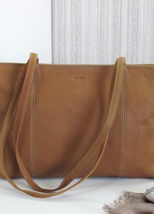 Большая классная сумка picard, германия, натуральная кожа