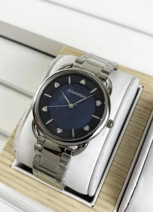 Стильные женские часы на браслете, серебристые