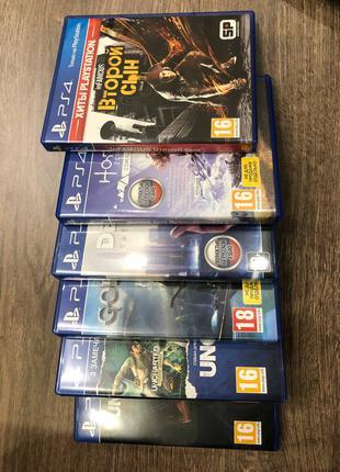Игры на PS4 (Uncharted, Detroit, Horizon, God of War, Второй сын)
