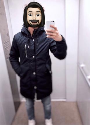 Куртка мужская осень-весна (для теплой зимы). Размер S/36. Синяя