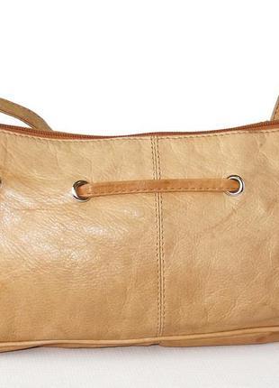 Легкая сумка кроссбоди, натуральная кожа