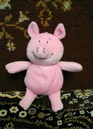 Мягкая игрушка свинка ,в попе шарики