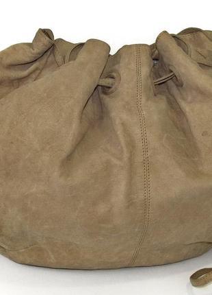 Большая интересная сумка dixie, италия, натуральная кожа.