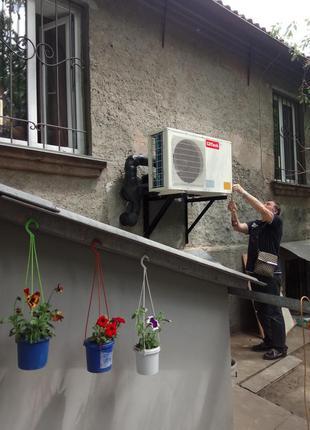 Недорогой тепловой насос воздух-вода Clitech (дешевое отопление и