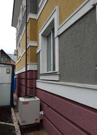 Тепловой насос воздух-вода на 300 кв.м.
