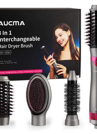 Aucma sm 5258 Щітка фен для волосся та об'ємний випрямляч з кругл
