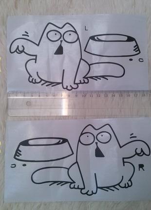 Наклейка на бак кот саймон