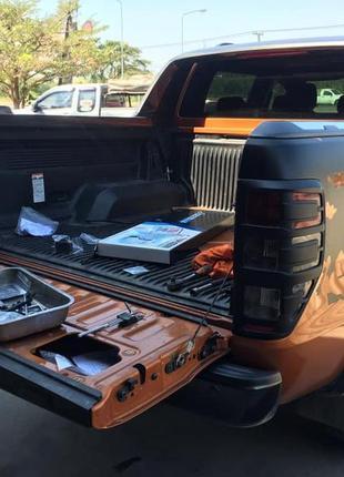 Механизм плавного открытия закрытия заднего борта Ford Ranger