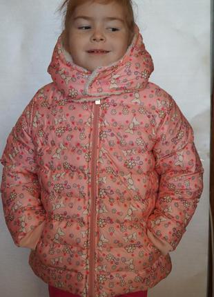 Классная зимняя куртка для девочки, от 6-9лет, турция, на меху...