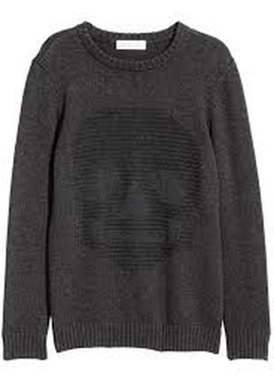 Кофта хлопковый свитер мальчику 14 лет h&m