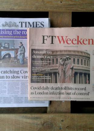 Брит. газеты 2019-21 Financial Times, Times, Sun, журналы TIME