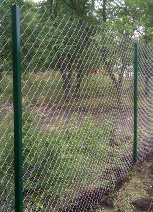 Установка заборов из сетки рабицы в Запорожье