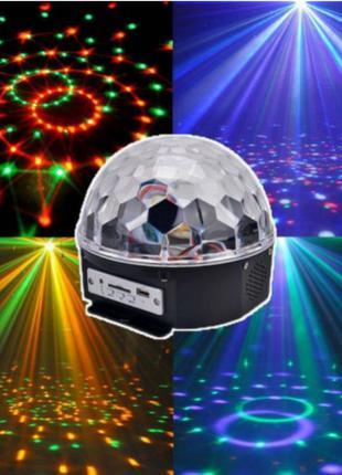 Диско шар MP3 LED Crystall Magic Ball Light
