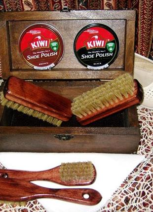 Мини-набор по уходу за обувью Kiwi (для гладкой кожи)