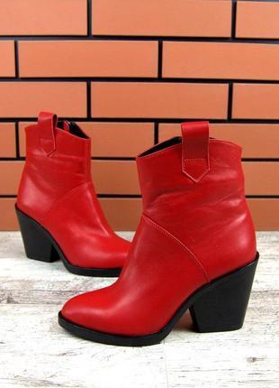 Натуральная кожа эксклюзивные зимние кожаные ботинки козаки ка...