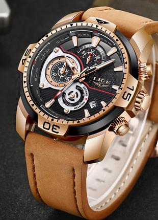 Стильные деловые часы LIGE9892