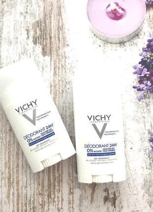Дезодорант-стик vichy deodorant без алюминия vichy déodorant 24h