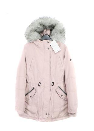 Парка удлиненная куртка на синтепоне с мехом тёплая