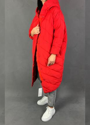 Объемный пуховик одеяло кокон куртка оверсайз био пух
