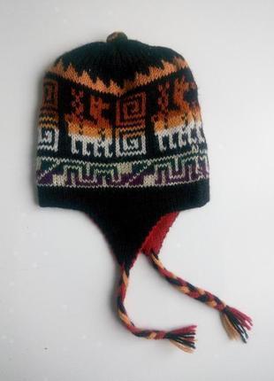 Зимняя шапка детская двусторонняя
