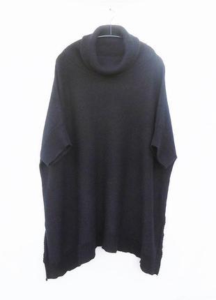 Теплый кашемировый шелковый  свитер оверсайз пончо кашемир шёлк