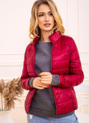 Куртка женская тонкая пуховая 129r7449 цвет бордовый