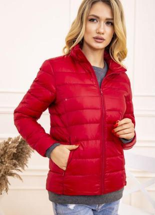 Куртка женская тонкая пуховая 129r7449 цвет красный