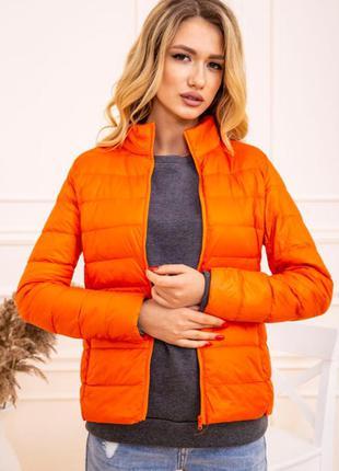 Куртка женская тонкая пуховая 129r7449 цвет оранжевый