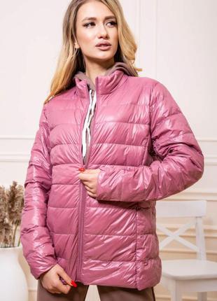 Куртка женская тонкая пуховая 129r7449 цвет пудровый