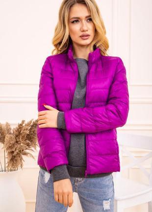 Куртка женская тонкая пуховая 129r7449 цвет фиолетовый