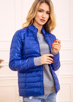 Куртка женская тонкая пуховая 129r7449 цвет электрик