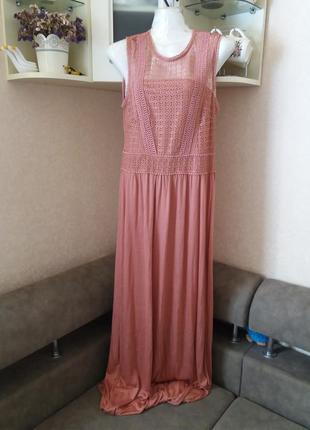 Платье в пол.цвет пыльной розы