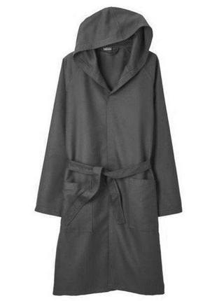 ‼️скидка‼️ халат с капюшоном серый микрофибра miomare by lidl ...