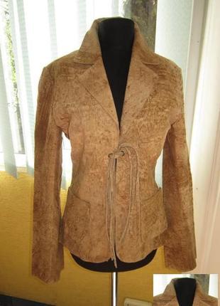 Стильная женская кожаная куртка-пиджак edc by esprit. сша. лот...