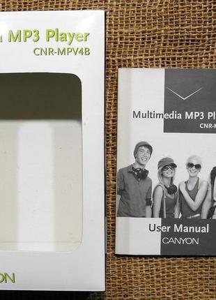 Портативный медиаплеер с FM-тюнером и диктофоном - Canyon CNR-MPV