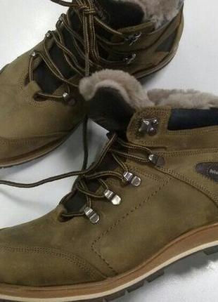 Зимние ботинки натуральный мех и кожа