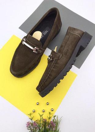 Замшевые утепленные туфли picnic