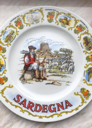 Тарелка сувенирная Италия, Сардиния, 26 см