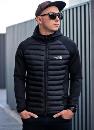 Куртка мужская стеганная черная tnf / куртка чоловіча стеганная