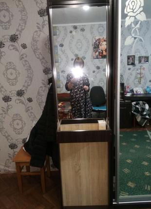Шкаф, прихожа с зеркалом