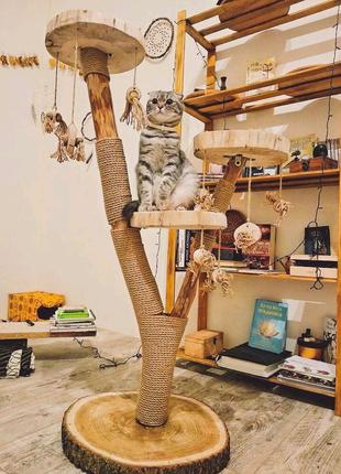 Когтеточка для кошки. Домик для кошек. Дряпка. Игровой комплекс