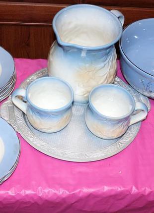 Красивая посуда для дома, тарелки, кувшин, чашки, пиалы, скидк...
