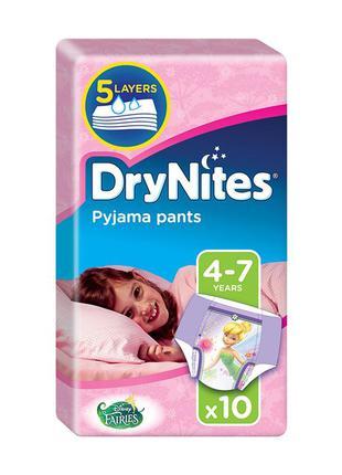 Трусики-подгузники huggies drynites для девочек