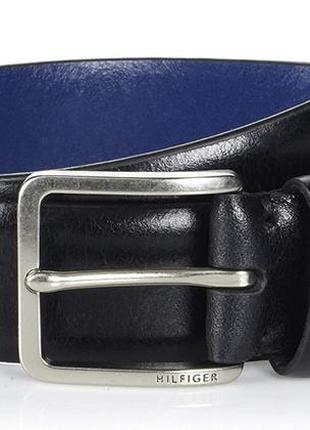 Кожаный ремень tommy hilfiger мужской пояс томми хилфигер ориг...