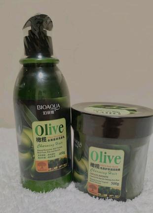 Шампунь та маска для волосся з оливковою олією