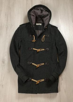 F9 пальто topman серое черное ветровка куртка с капюшоном