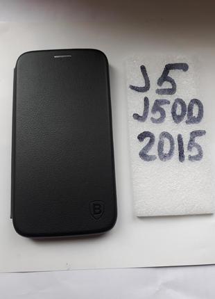 Купить чехол книжку Samsung J500 (J5 2015 J500) Черный цвет
