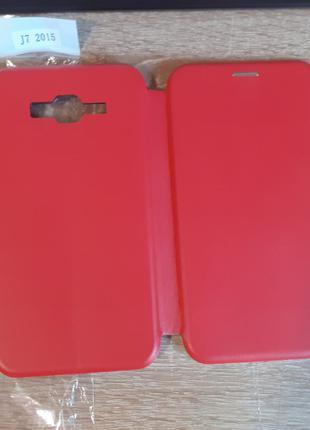 Чехол книжка Samsung. Samsung J500 (J5 2015 J500) Красный цвет