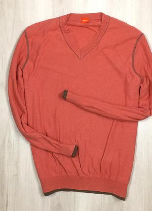 F7 пуловер hugo boss джемпер хуго хьюго бос босс алый