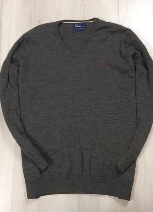 F7 шерстяной пуловер fred perry фред перри джемпер кофта свитер